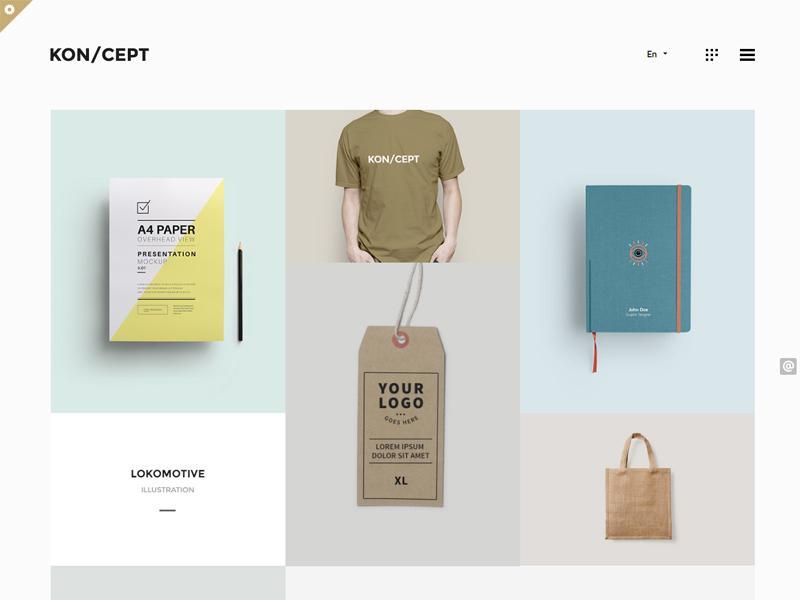 koncept wp portfolio theme