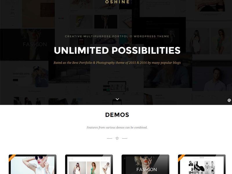 oshine wp portfolio theme