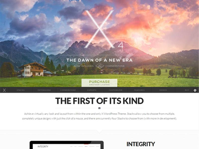 X theme WordPress