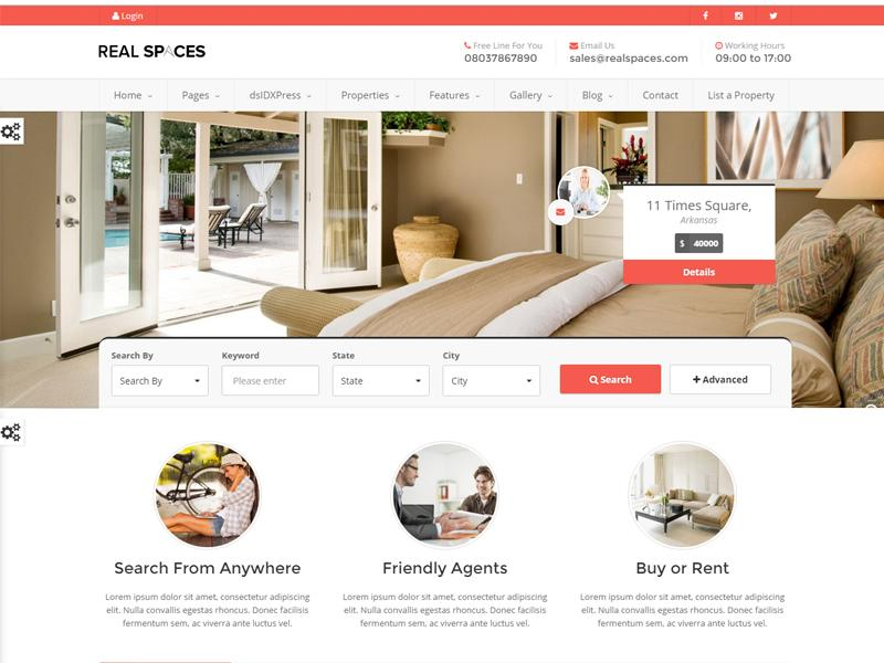 Real Spaces WordPress theme