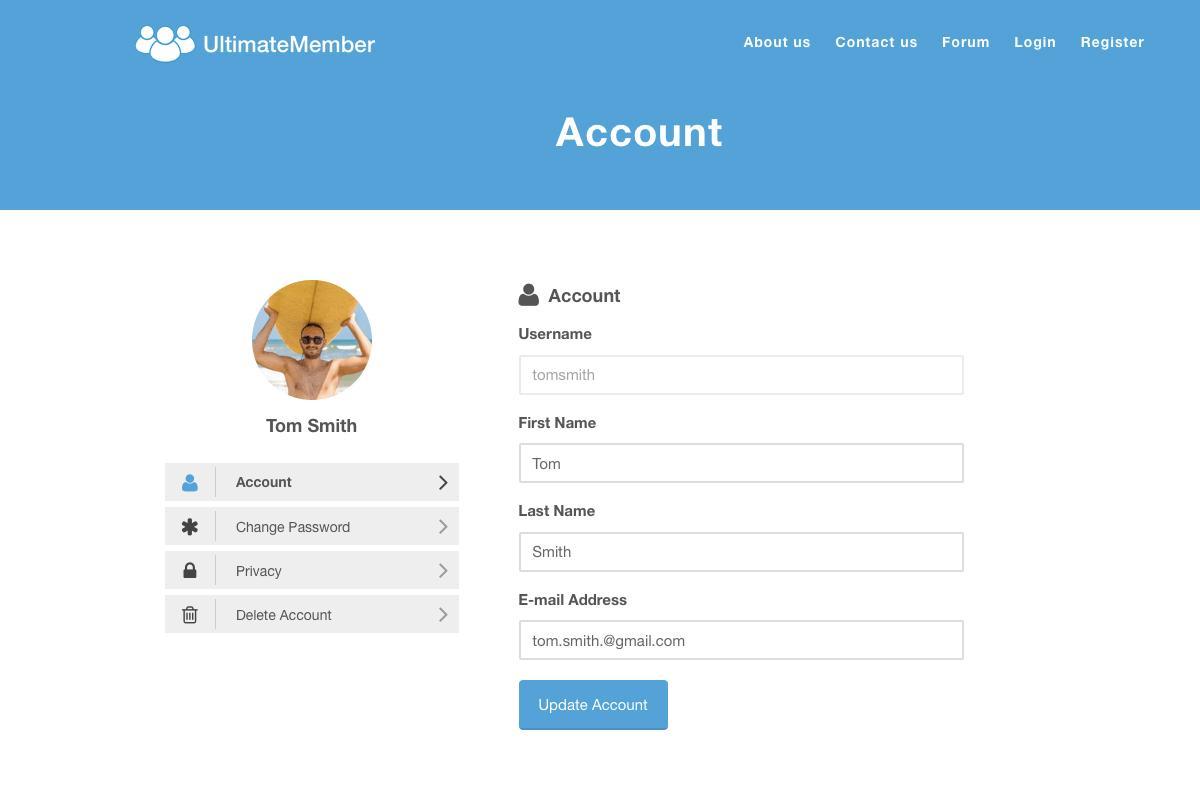 ultimate member login