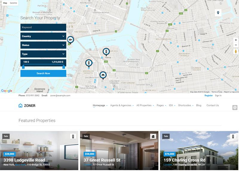 zoner wordpress real estate theme