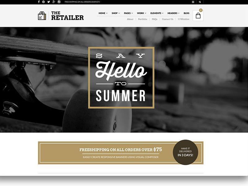 the retailer theme
