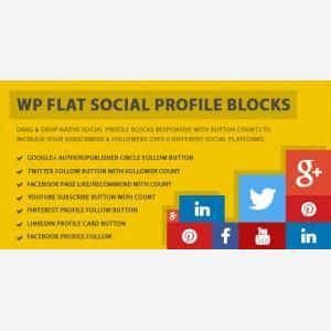 wp flat social plugin
