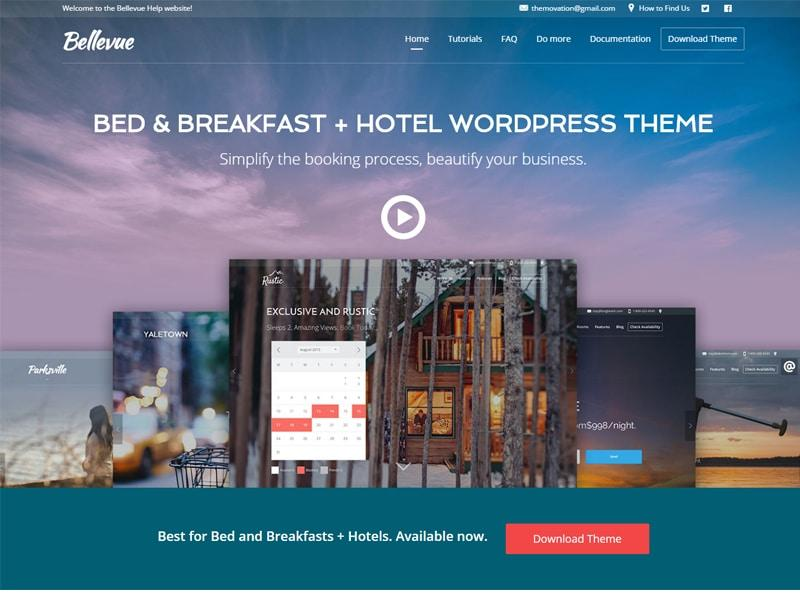 Bellevue Hotel wordpress theme