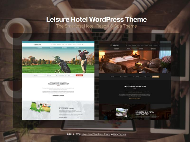 hotel leisure wordpress theme