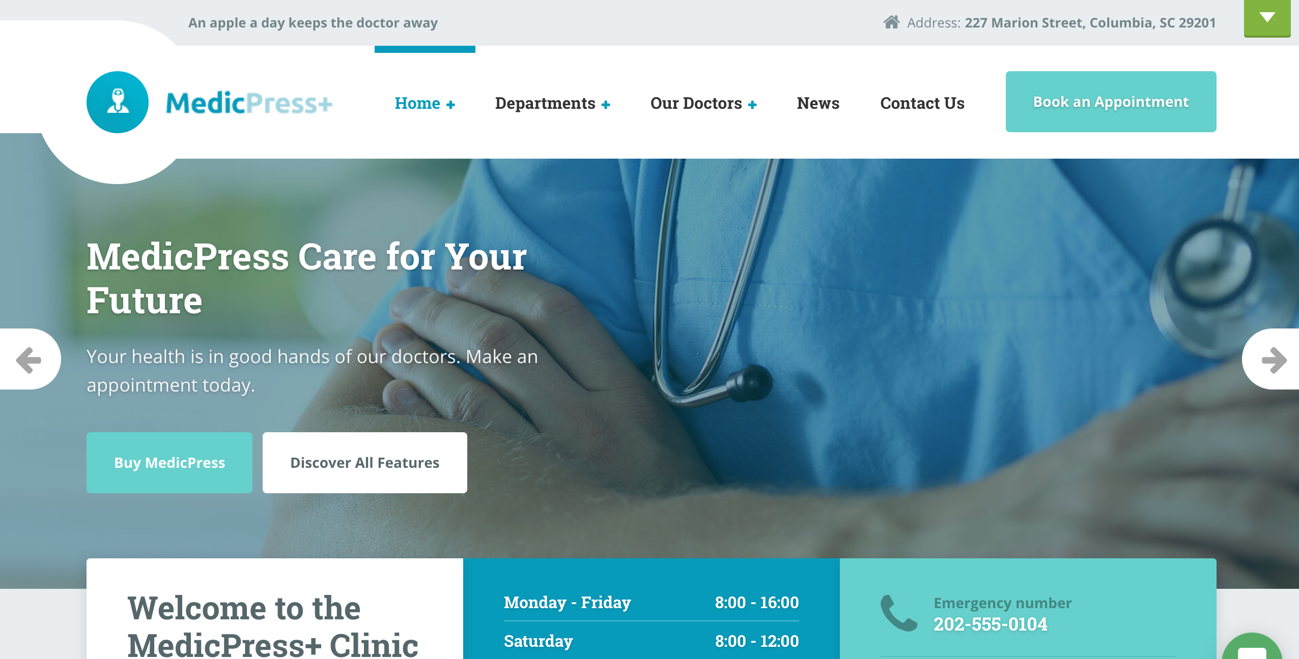 MedicPress theme