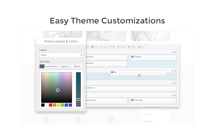 theme customization medicpress