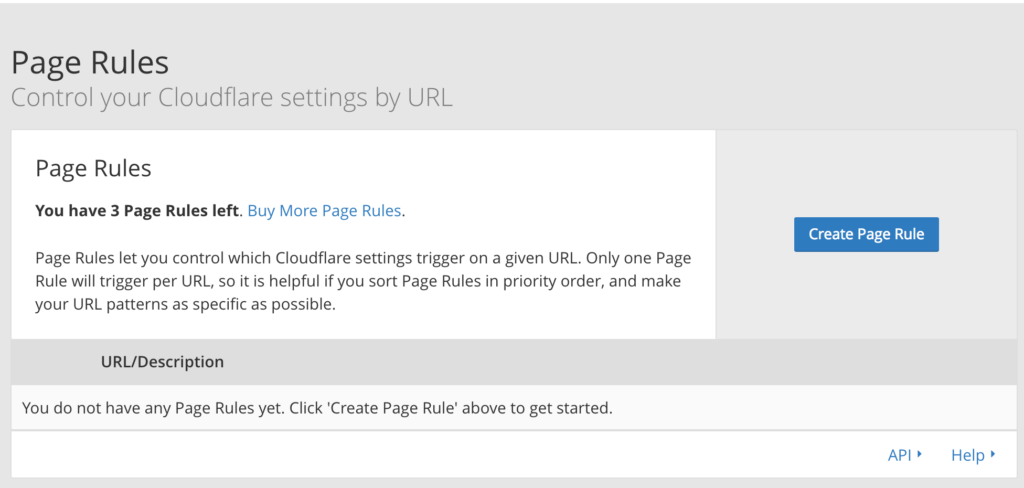 adding new page rule