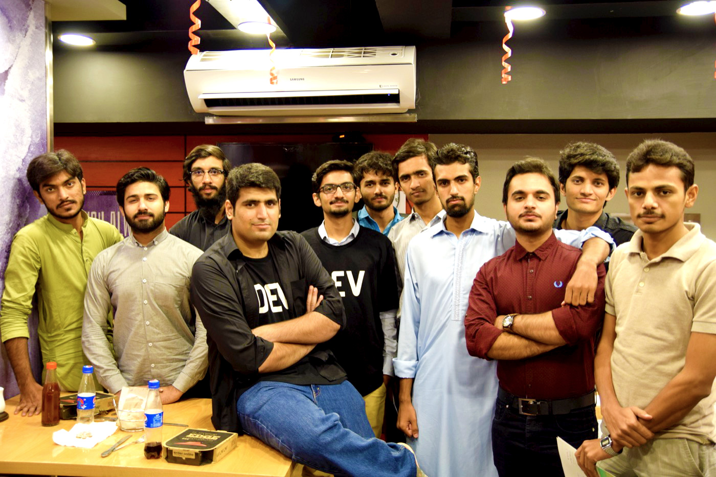 UETIANS with Ahmad Awais at the end of Hacktoberfest Event