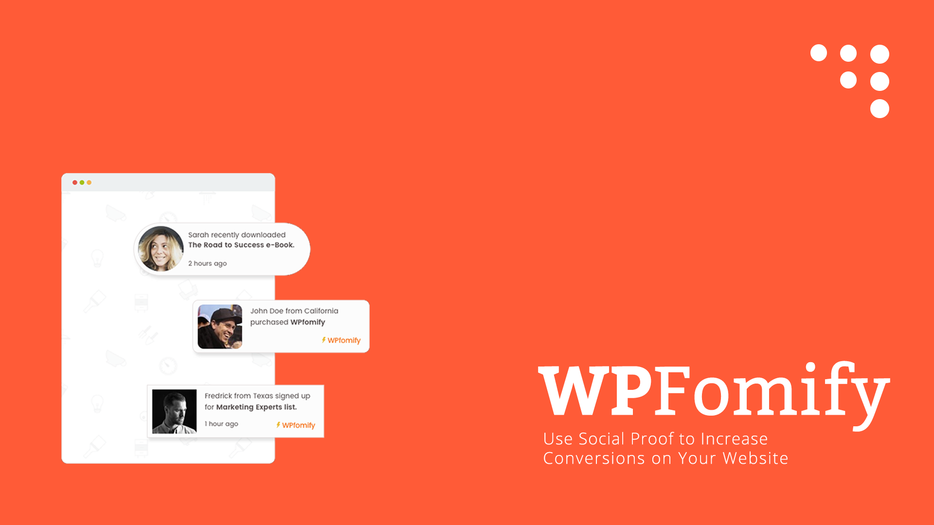 Use Social Proof Marketing to Increase Conversions With WPFomify Plugin 1 wpfomify Extensive Reviews