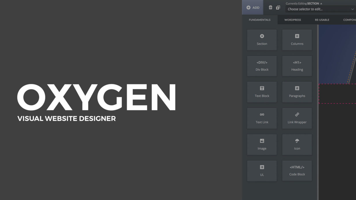 Oxygen — an All in One Visual Site Builder for WordPress