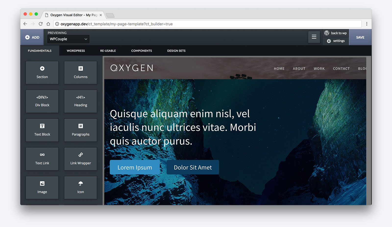 Oxygen — an All in One Visual Site Builder for WordPress 3  Extensive Reviews
