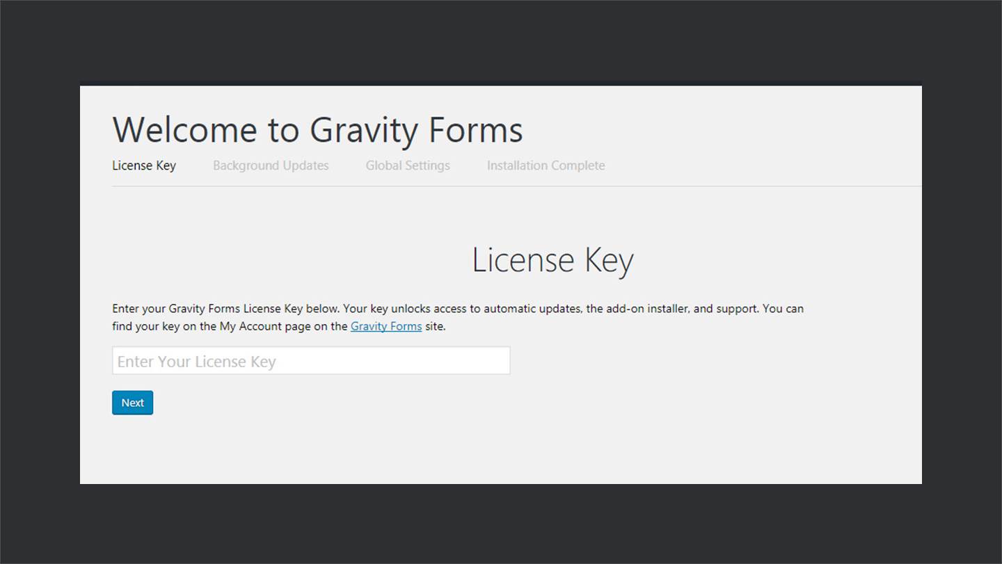 Gravity Forms License Key