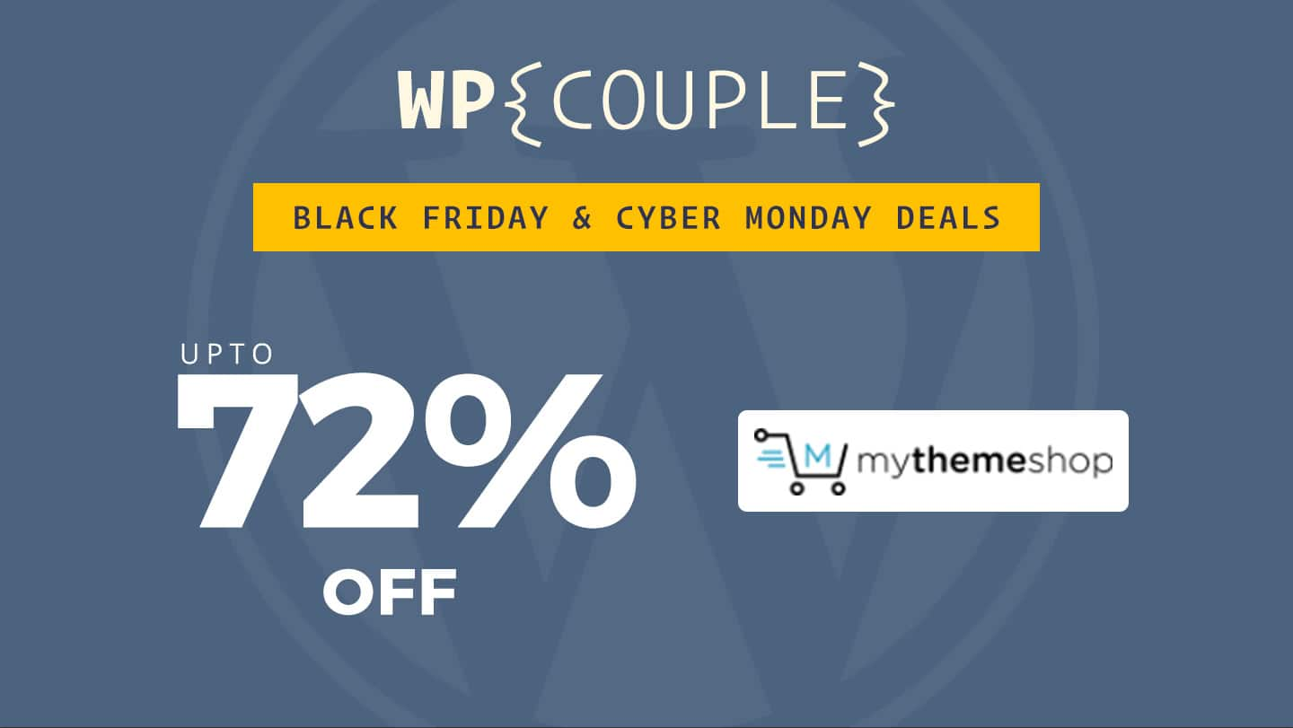 MyThemeShop BlackFriday 72% OFF Banner