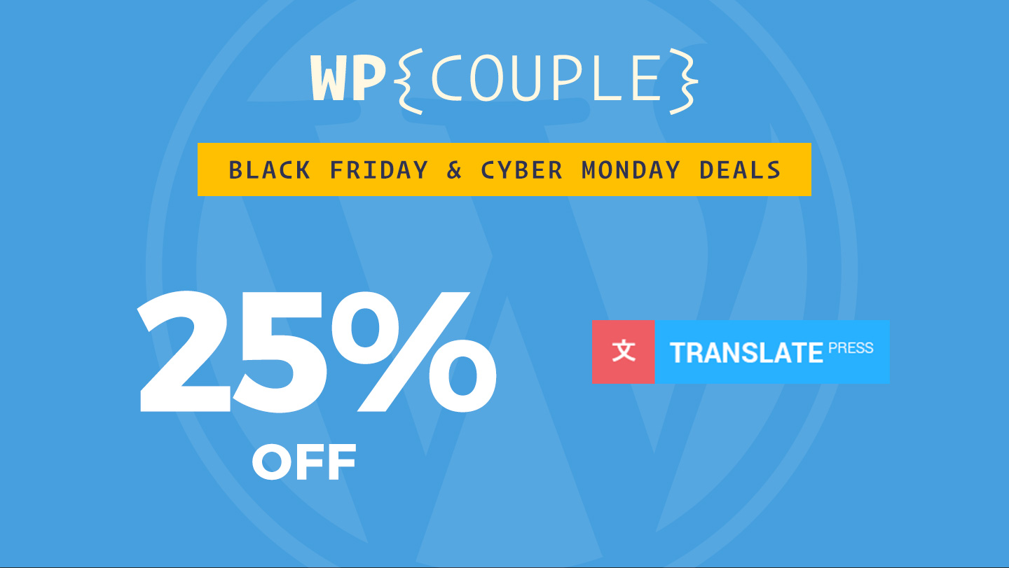 TranslatePress Black Friday 25% OFF banner