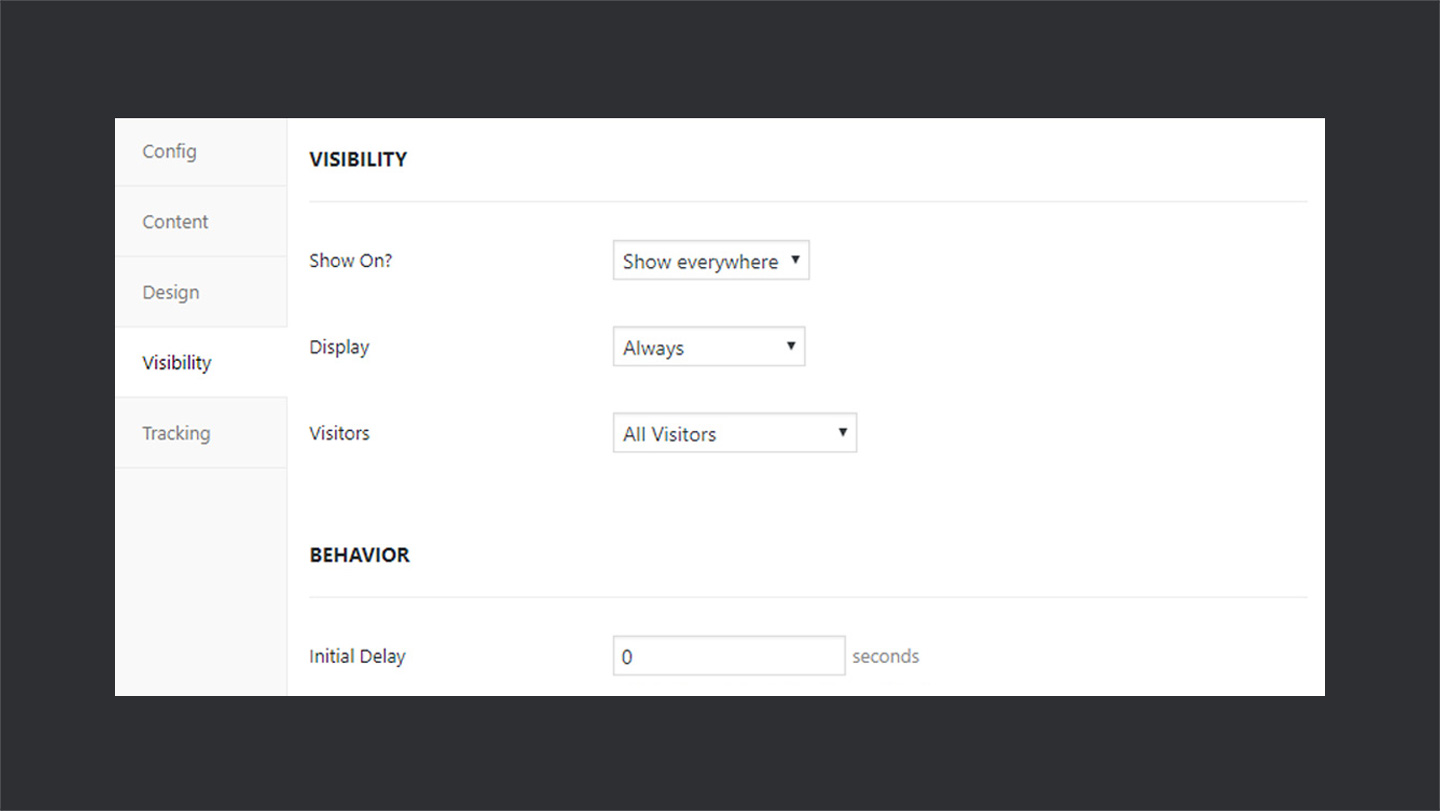 WPFomify Visibility Type