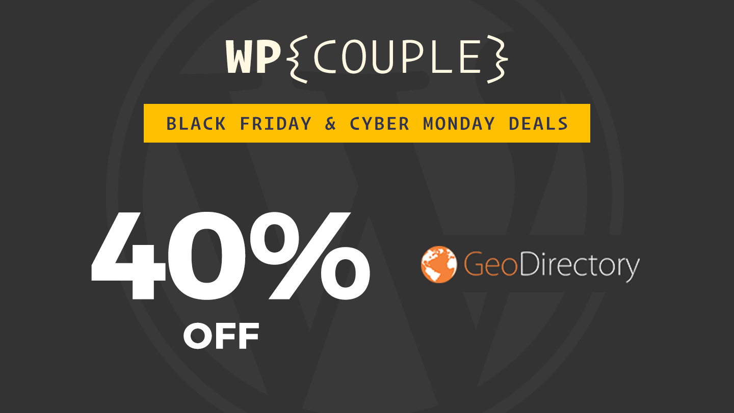 WP GeoDirecetory 40% OFF Banner