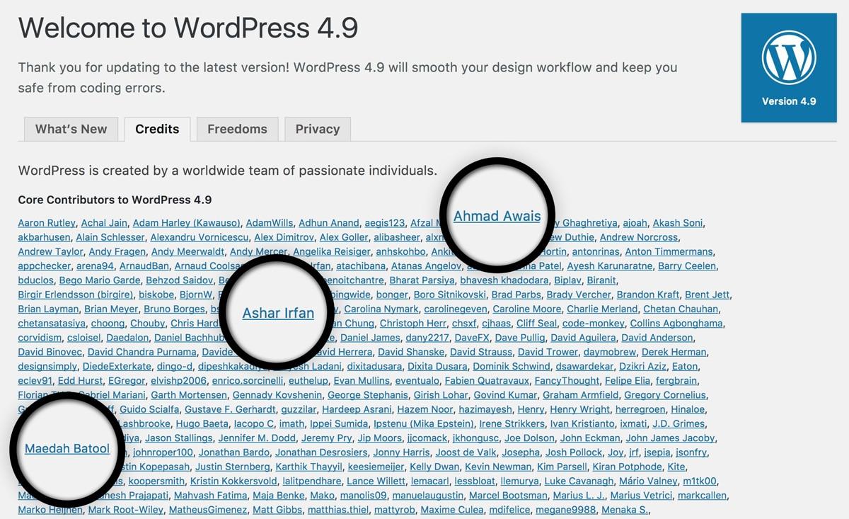 WordPress4.9-Core-Contributors-WPCouple-Ahmad-Awais-Maedah-Batool-Ashar-Irfan