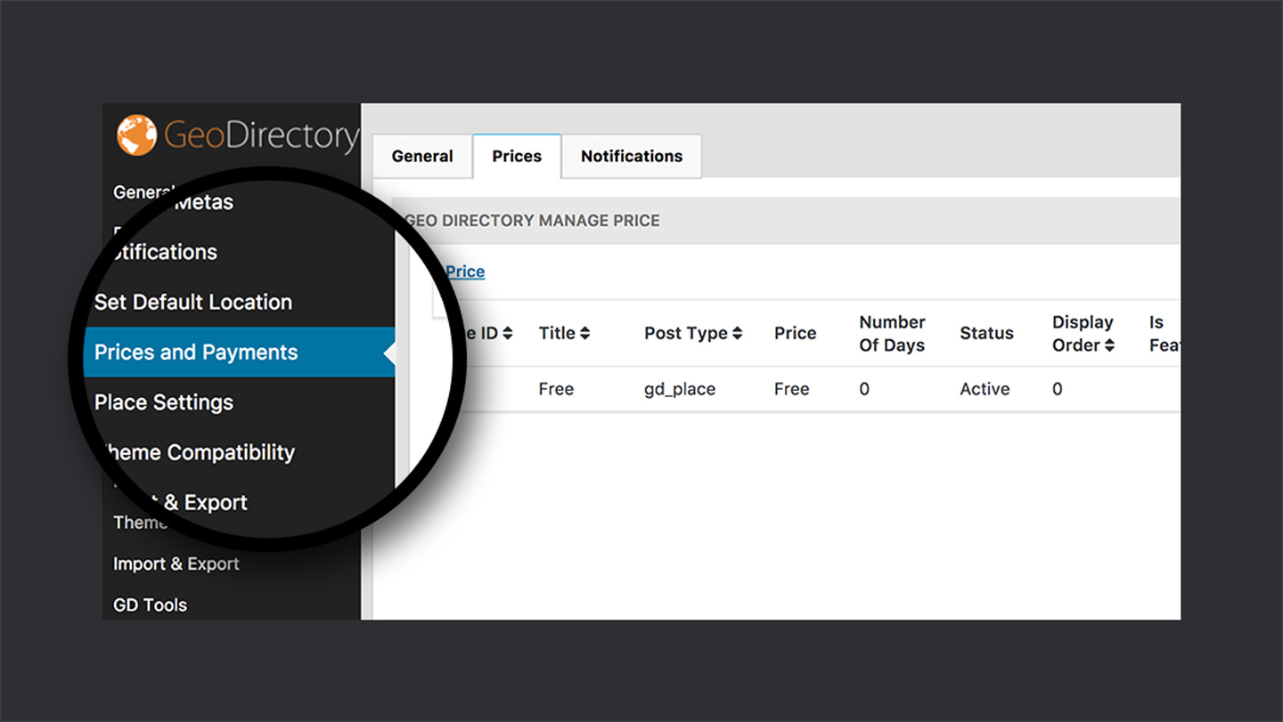 GeoDirectory — Payment Options
