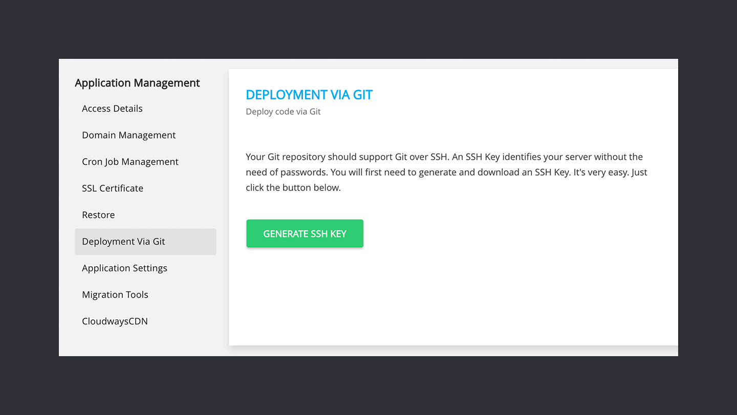 Cloudways — Deployment via Git