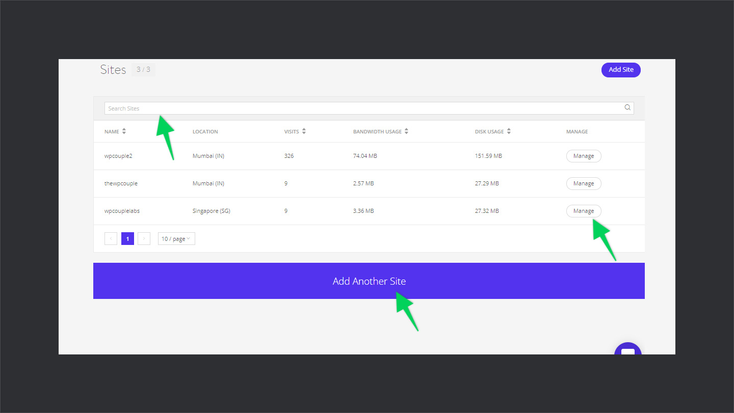 Kinsta-Sites-Management