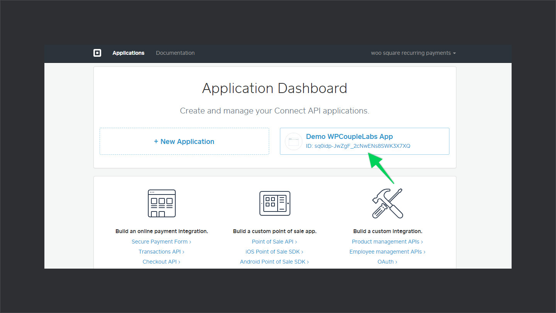 Square Application Credentials