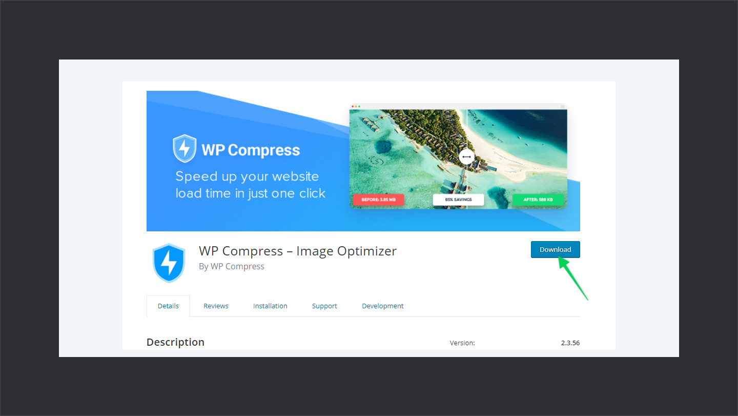 WPCompress versions