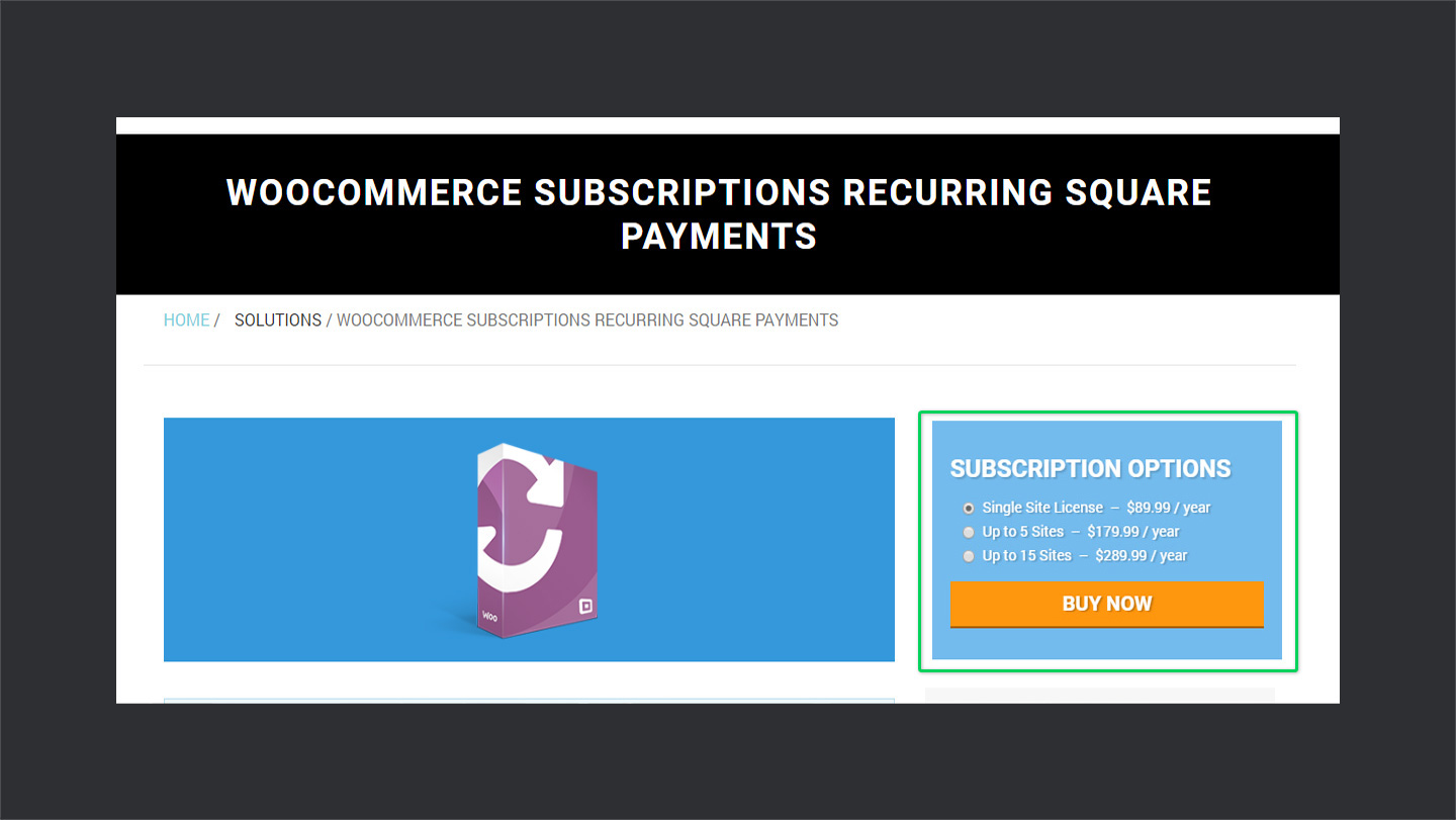 square recurring payments for woocommerce pricing