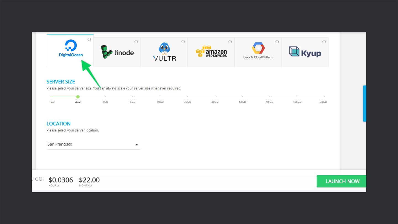 CloudWays-Selecting-Server