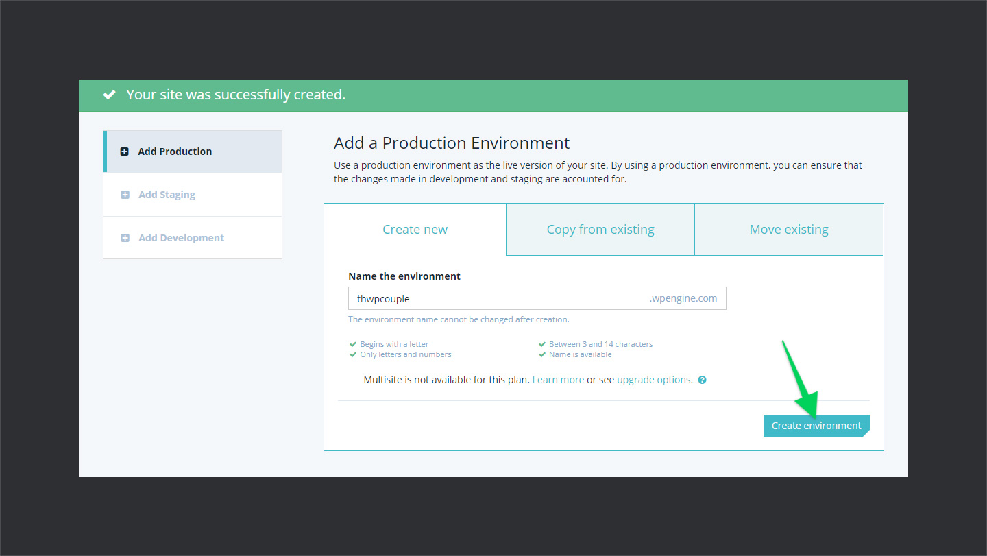 WPEngine-Creating-Production-Environment