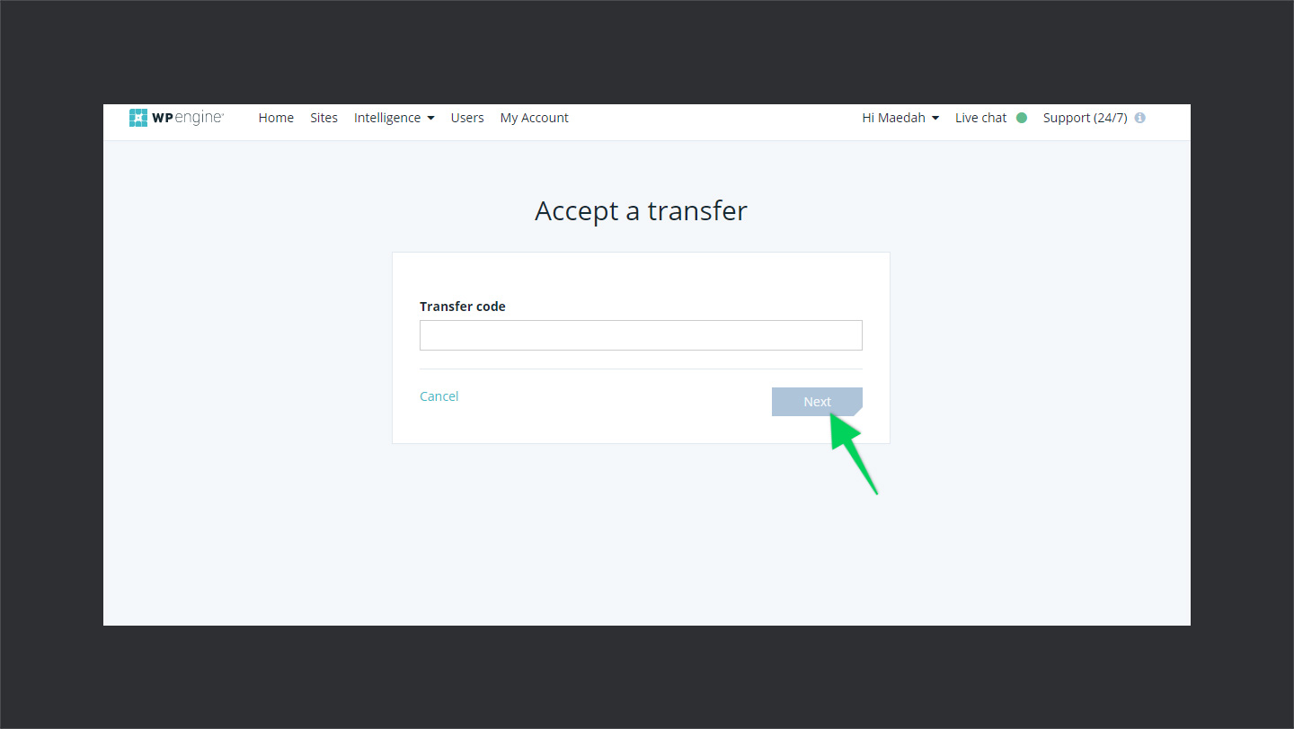 WPEnginer-Accepting-Transfer-Site