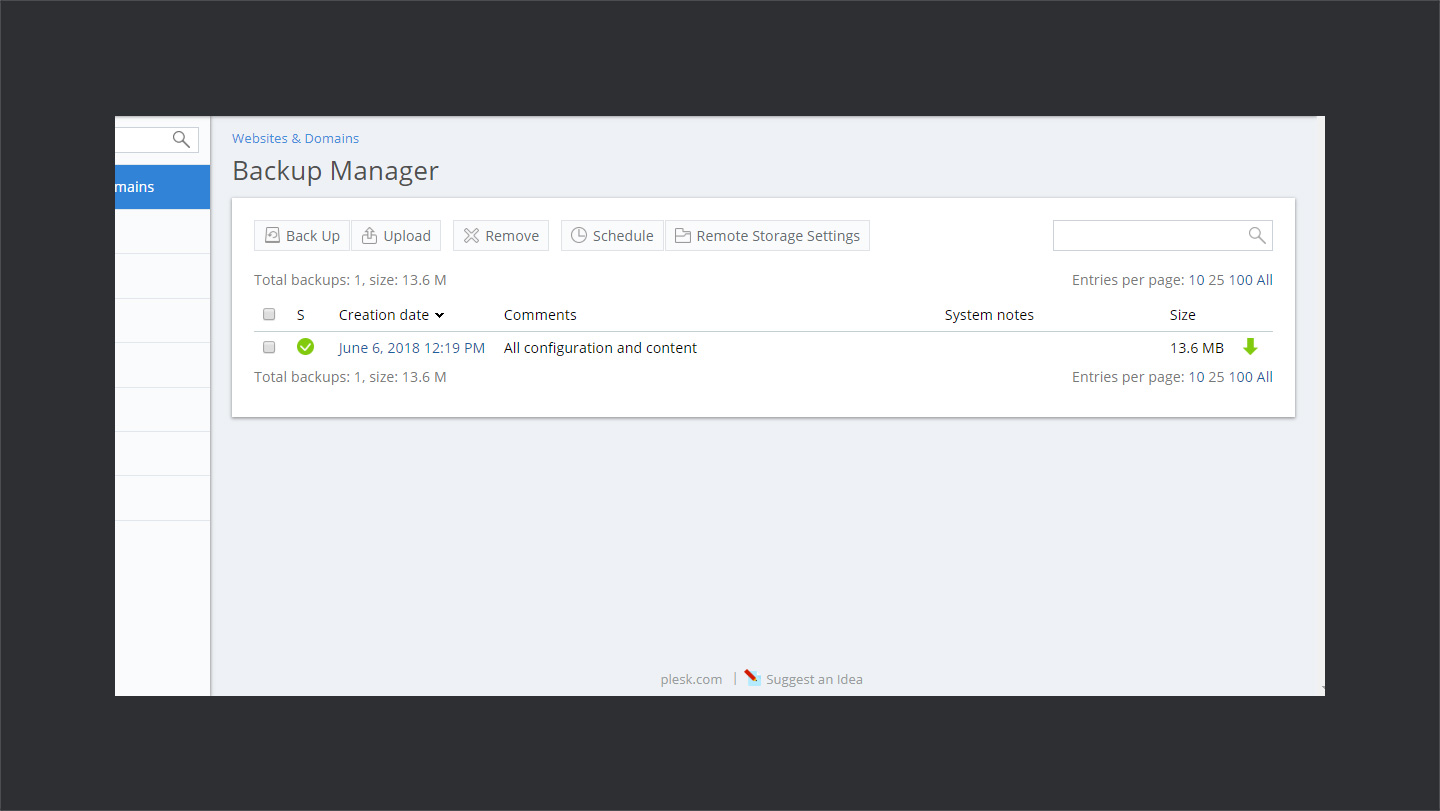 Wpwebhost Backup Manager