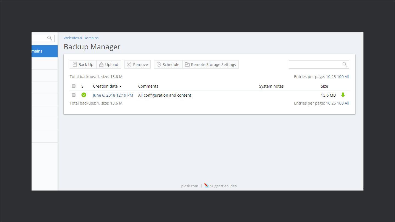 Wpwebhost Backup Manager