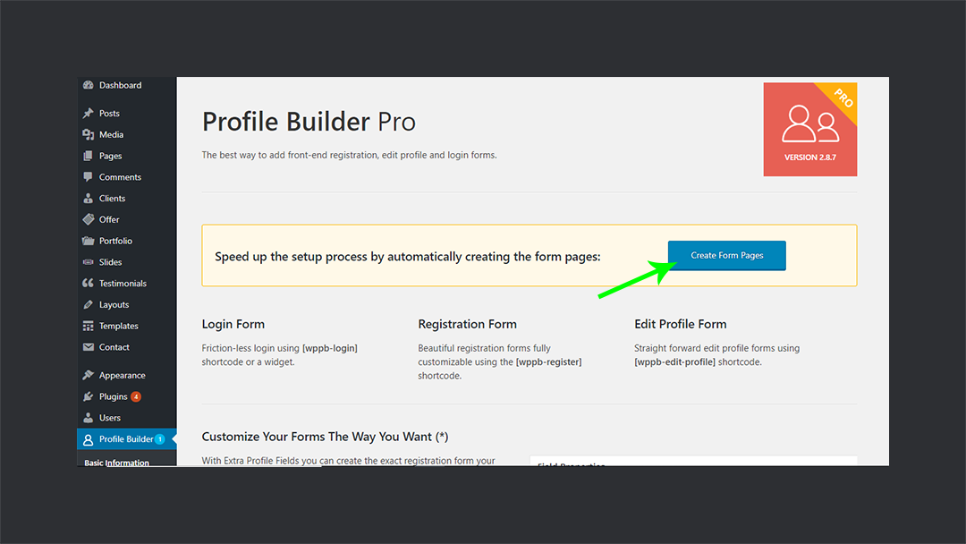 Profilebuilderpro Create Forms