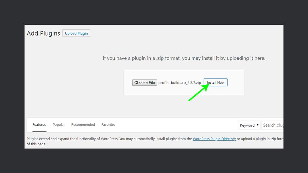 Profilebuilderpro Install Plugin