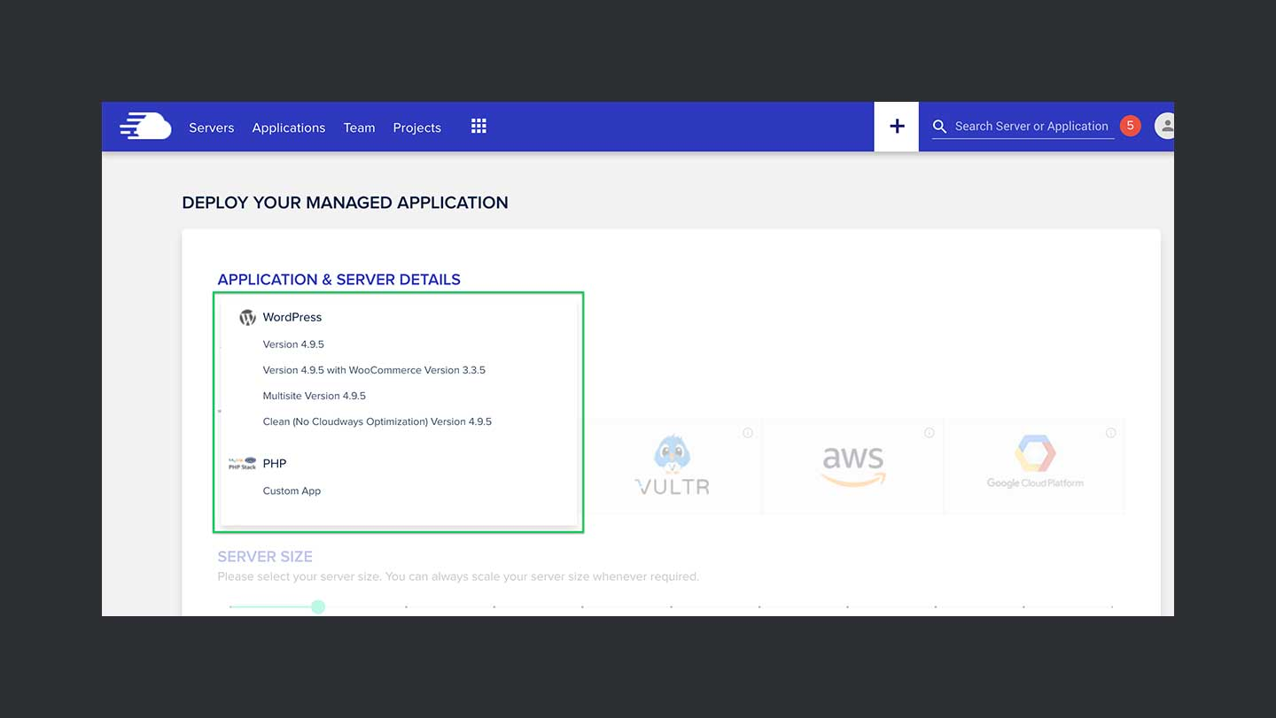 Cloudways Review Step 2