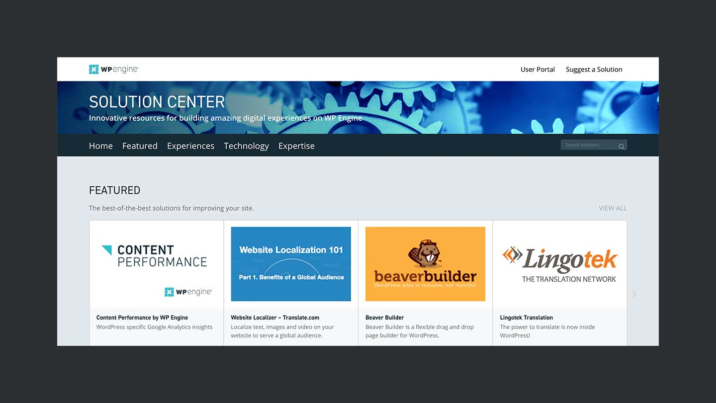 Wpengine Review Solution Center