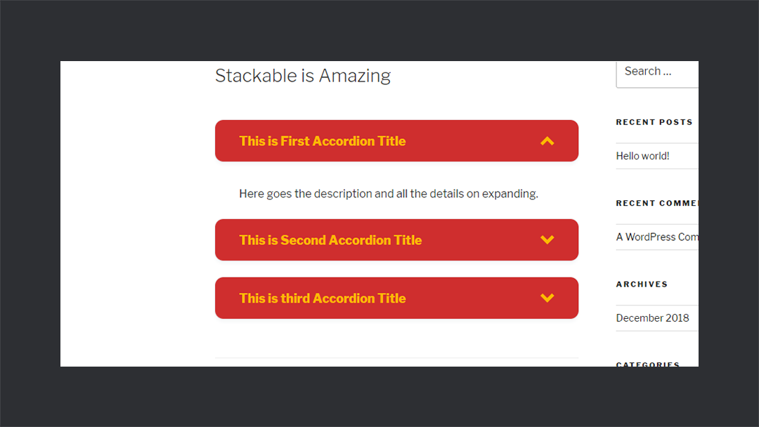 Stackable Accordionview