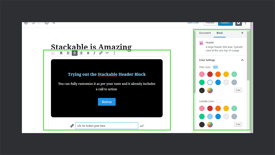 Stackable Headerblock