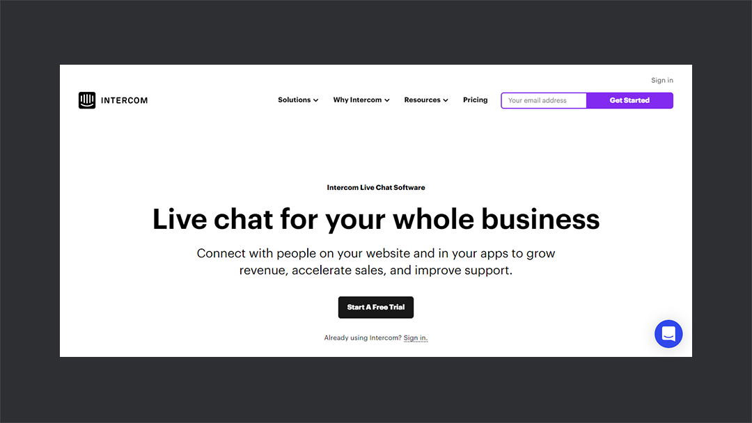 Intercom Livechat - Thedevcouple