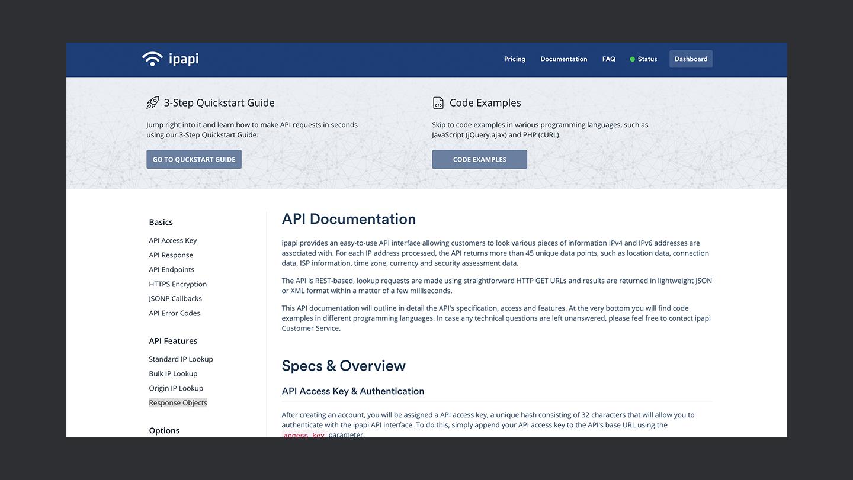 Ipapi Documentation Thedevcouple