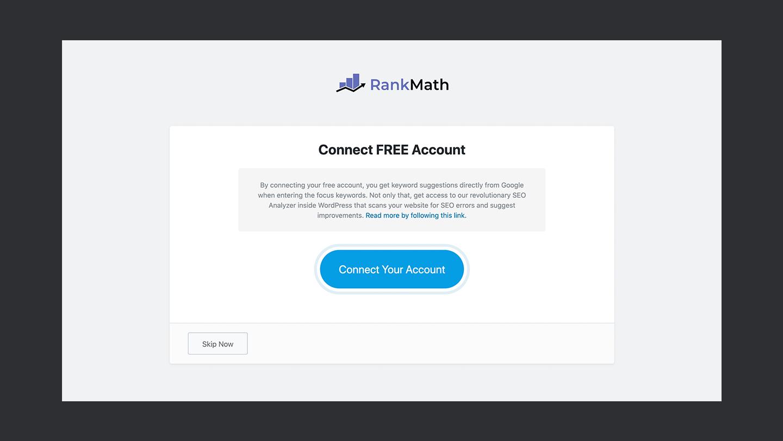 Rank Math Account