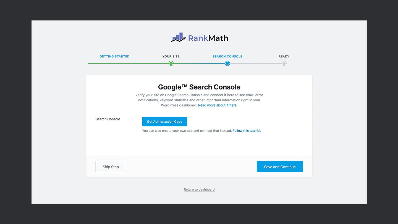 Rank Math Google Search Console
