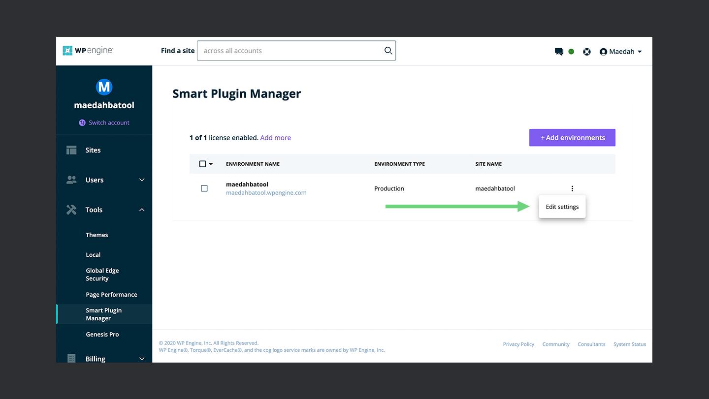 Wp Engine Smart Plugin Manager Edit Settings