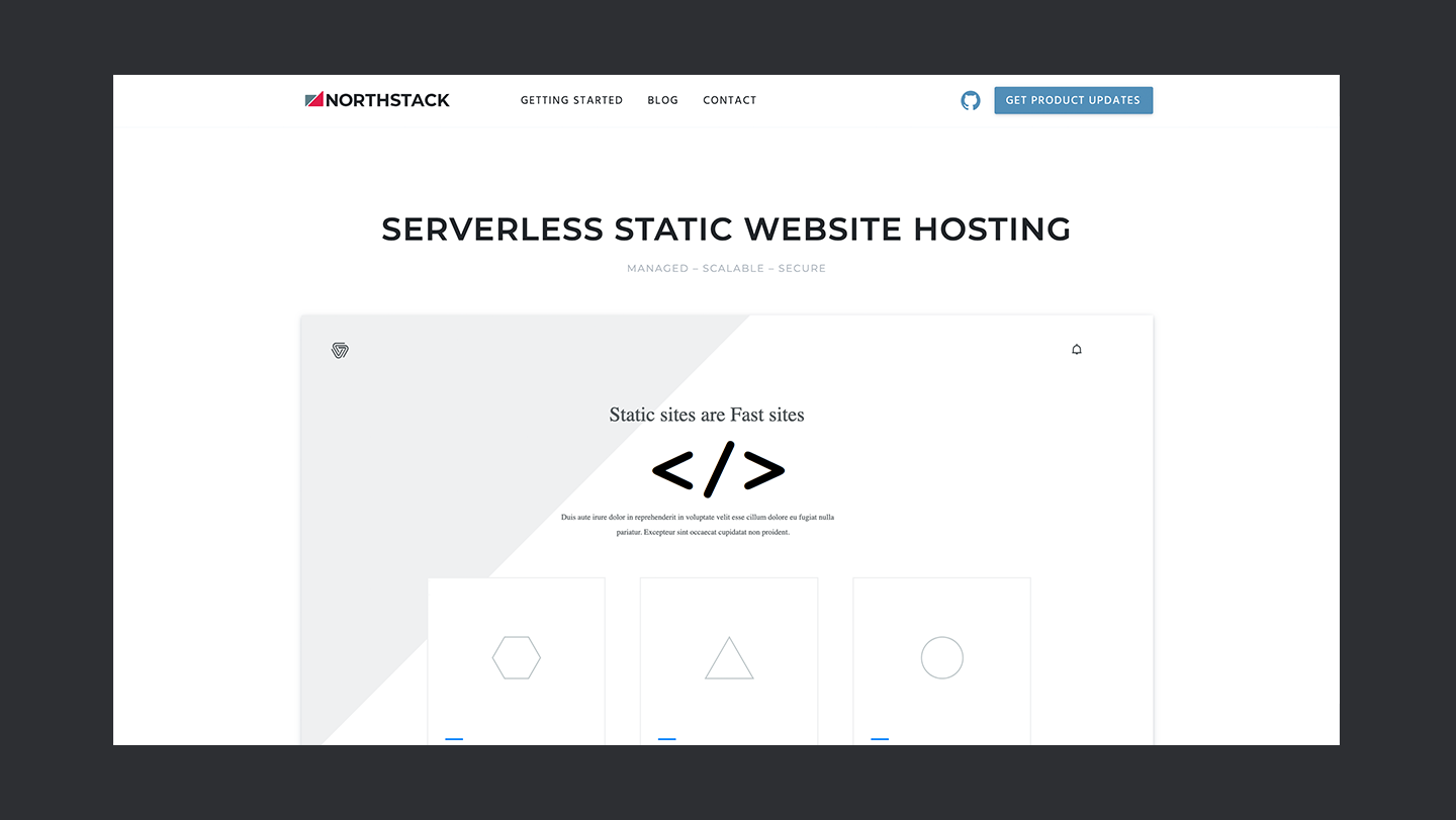 Northstack Static Site Thedevcouple